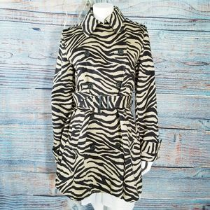 Lauren Ralph Lauren Tiger Print Trench Coat Trendy